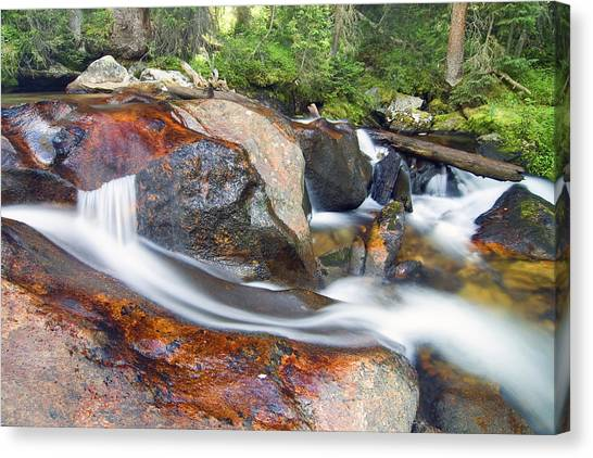 Canvas Print featuring the photograph Granite Falls by Gary Lengyel