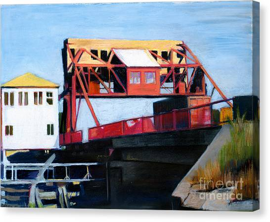 Granite Street Drawbridge At Neponset River Canvas Print