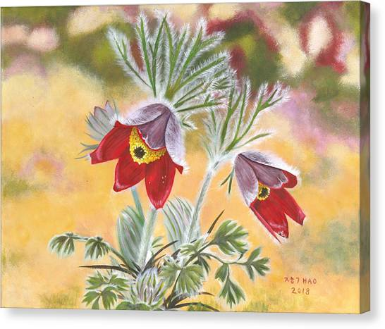 Granny Flowers Canvas Print