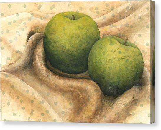 Granny Smith Apples Canvas Print by Sandy Clift