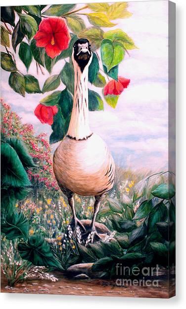 Granny's Goose Canvas Print