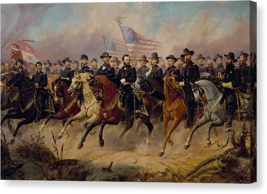 Military Canvas Print - Grant And His Generals by War Is Hell Store