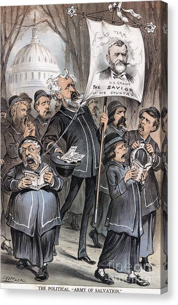 Salvation Army Canvas Print - Grant Cartoon, 1880 by Granger