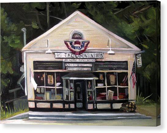 Granville Country Store Front View Canvas Print