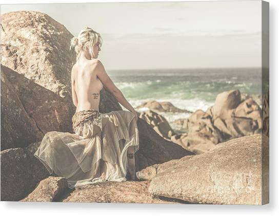 Female Nudes Canvas Print - Granville Harbour Tasmania Fine Art Beauty Portrait by Jorgo Photography - Wall Art Gallery