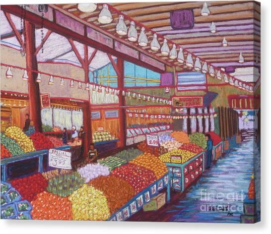 Granville Island Market Bc Canvas Print