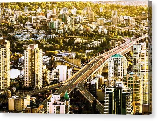 Granville Street Bridge Vancouver British Columbia Canvas Print