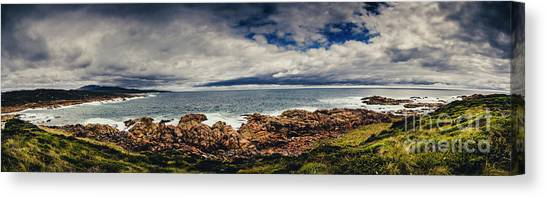 Harbour Canvas Print - Granville Tasmania Panoramic by Jorgo Photography - Wall Art Gallery