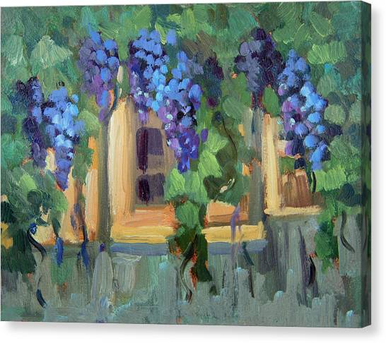 Arbor Canvas Print - Grape Arbor Provence by Diane McClary