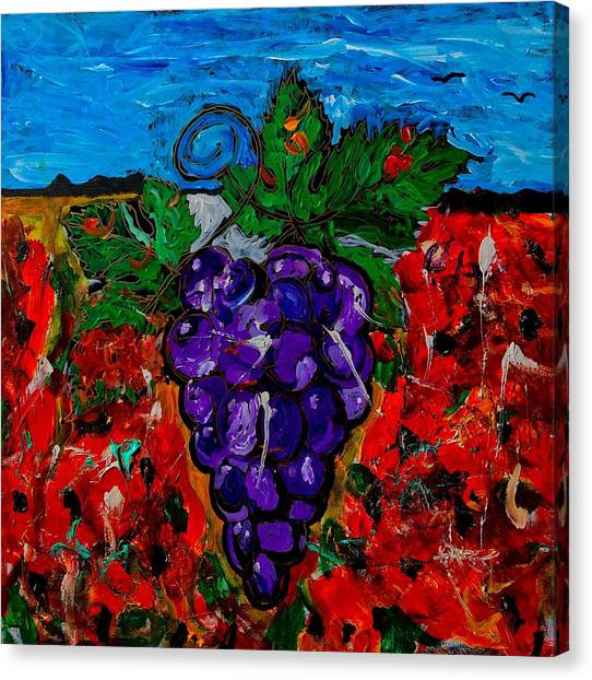 Grape Jazz Canvas Print