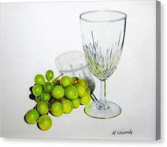 Grapes And Crystal Canvas Print