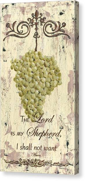 Bible Verses Canvas Print - Grapes And Grace 2 by Debbie DeWitt