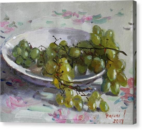 Grapes Canvas Print - Grapes From Lida's Garden by Ylli Haruni