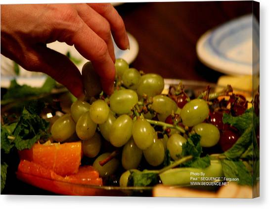Grapes Canvas Print by Paul SEQUENCE Ferguson             sequence dot net