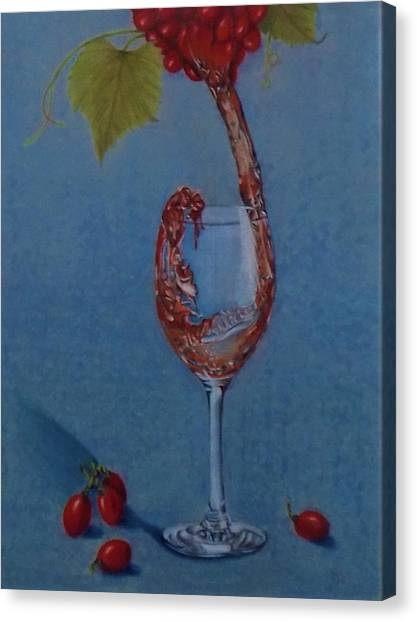 Grapes To Wine Canvas Print