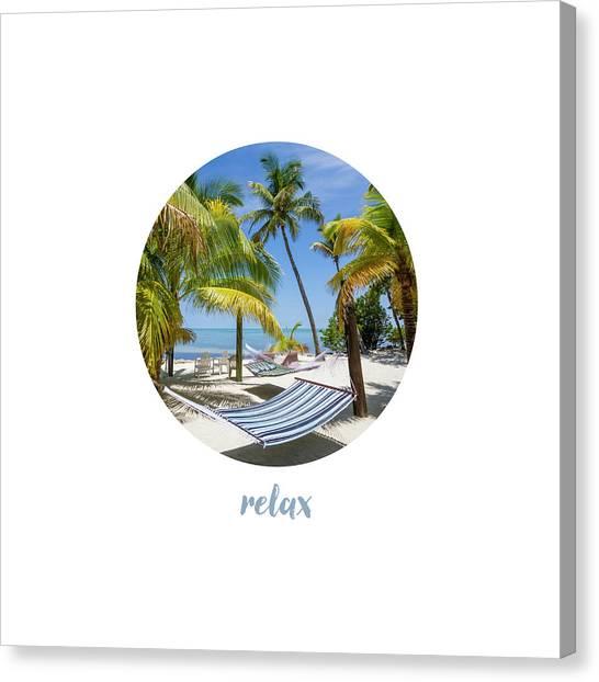 Breathe Canvas Print - Graphic Art Relax Key West IIi by Melanie Viola