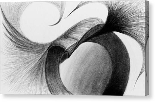 Half Life Canvas Print - Graphite Abstract Sketch Art by Artistic Surgeon