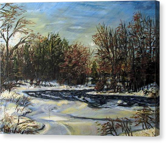 Grasse River In January Canvas Print