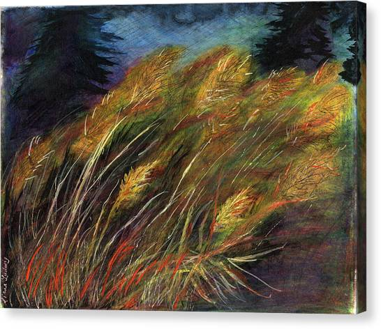 Grasses Canvas Print by Diana Ludwig