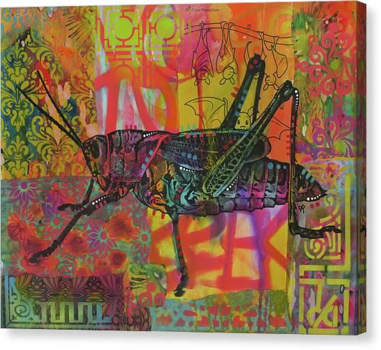 Grasshopper Canvas Print - Grasshopper by Dean Russo Art