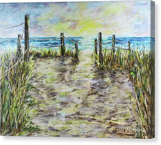 Grassy Beach Post Morning 2 Canvas Print