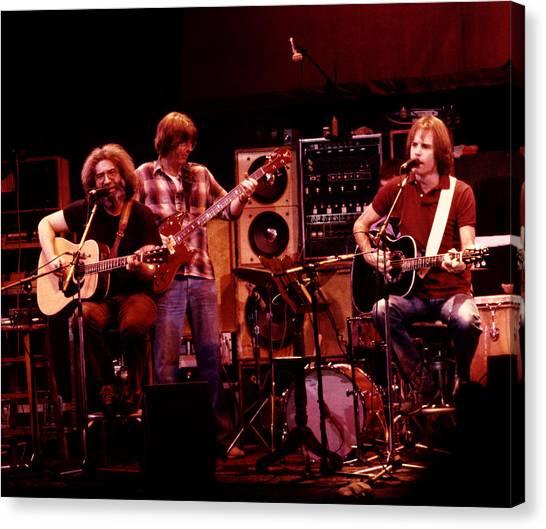 Grateful Dead Canvas Print - Grateful Dead Acoustic 1980 by Steven Sachs