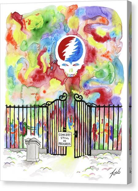 Dye Canvas Print - Grateful Dead Concert In Heaven by Tom Toro