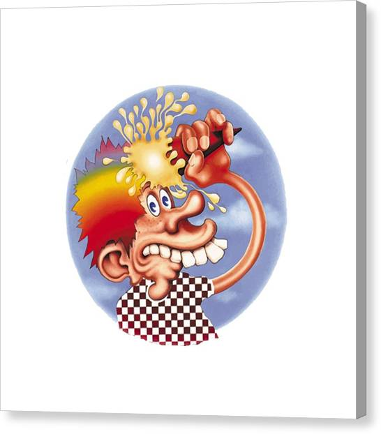 Skeleton Canvas Print - Grateful Dead Europe 72' by Gd