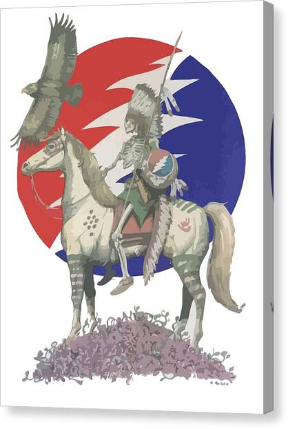 Althea Canvas Print - Grateful Dead Hero by Eran Habusha