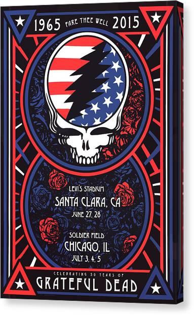 Grateful Dead Canvas Print - Grateful Dead Santa Clara Ca by The Saint