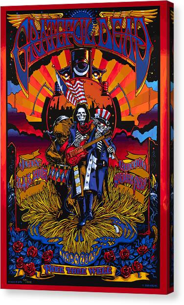 Grateful Dead Canvas Print - Grateful Deads Soldier Field Chicago by The Deads