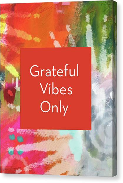 Tie-dye Canvas Print - Grateful Vibes Only Journal- Art By Linda Woods by Linda Woods