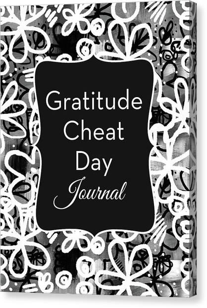 Teenager Canvas Print - Gratitude Cheat Day Journal- Art By Linda Woods by Linda Woods