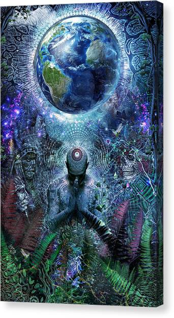 Spirit Canvas Print - Gratitude For The Earth And Sky by Cameron Gray