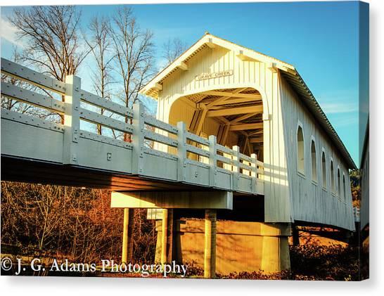 Grave Creek Covered Bridge Canvas Print