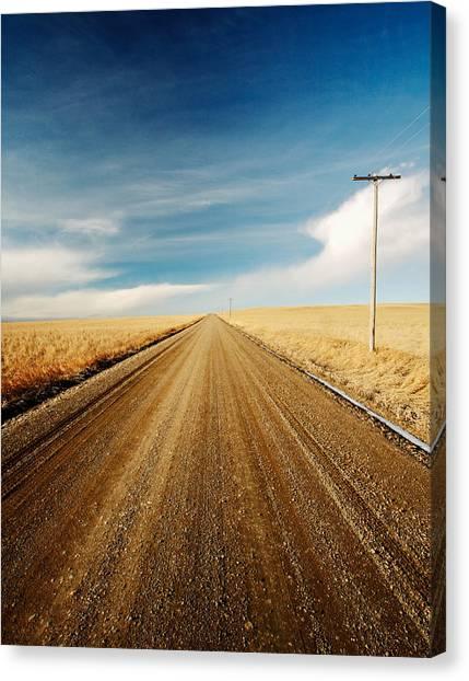 Utility Canvas Print - Gravel Lines by Todd Klassy