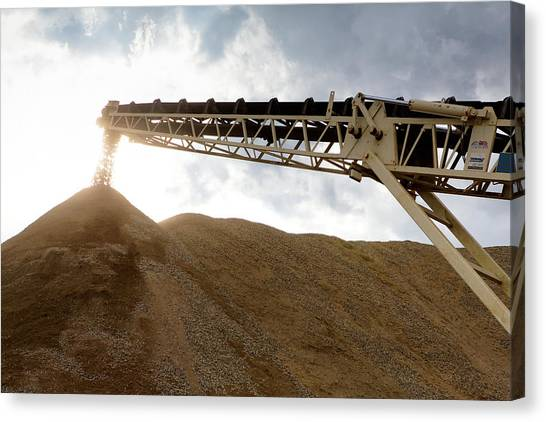 Canvas Print featuring the photograph Gravel Mountain 2 by David Buhler