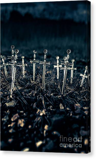 Medieval Art Canvas Print - Gravely Battlefield by Jorgo Photography - Wall Art Gallery