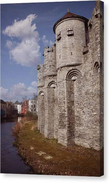 Gent Canvas Print - Gravensteen Ghent by Carol Japp