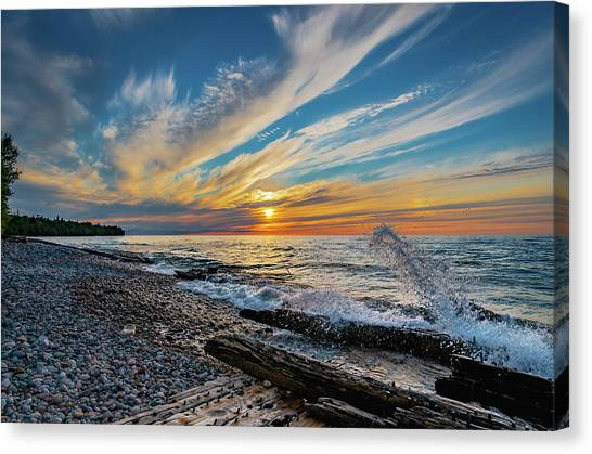 Graveyard Coast Sunset Canvas Print