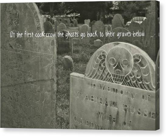 Graveyard Quote Canvas Print by JAMART Photography