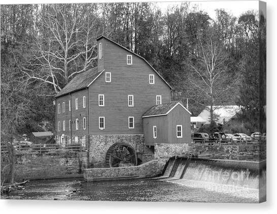 Gray Autumn At The Old Mill In Clinton Canvas Print