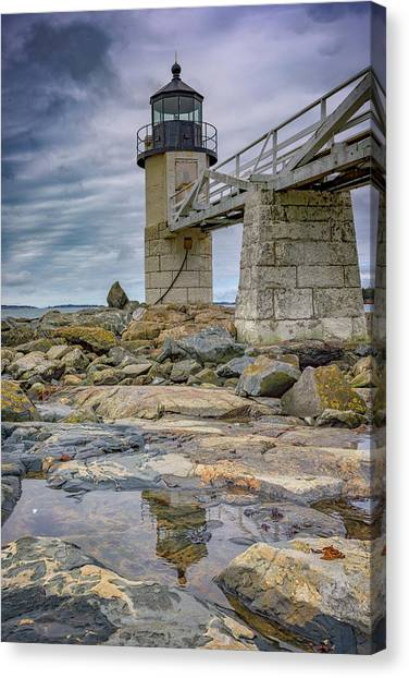 St George Canvas Print - Gray Day At Marshall Point by Rick Berk