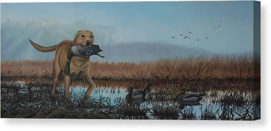 Gray Day Mallards Canvas Print