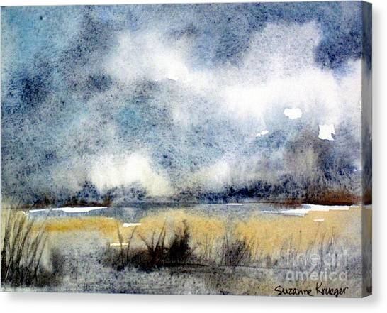 Gray Day Canvas Print by Suzanne Krueger