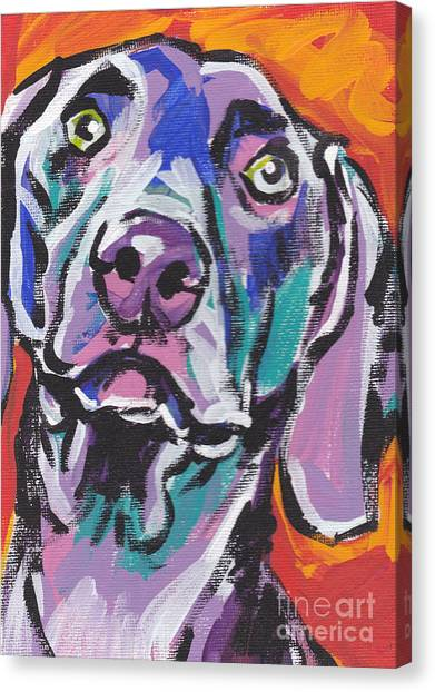 Weimaraners Canvas Print - Gray Ghost by Lea S