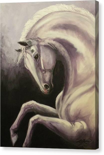 Gray Horse Fantasy Canvas Print by Liz Rose