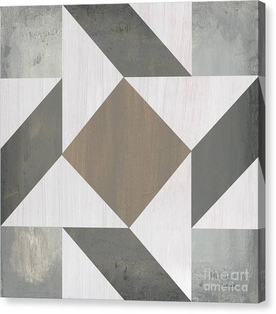 Plaid Canvas Print - Gray Quilt by Debbie DeWitt