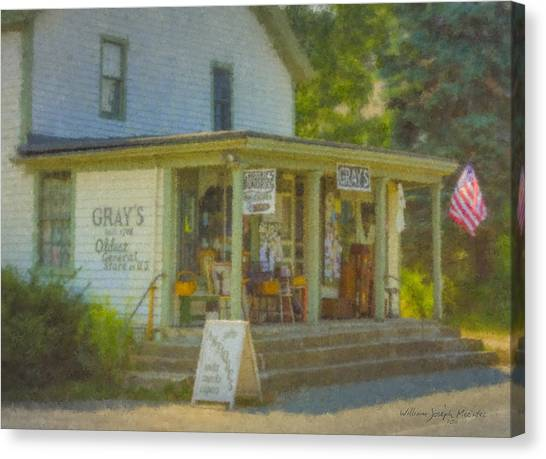 Gray's Store In Little Compton Rhode Island Canvas Print