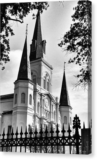 Grayscale St. Louis Cathedral Canvas Print